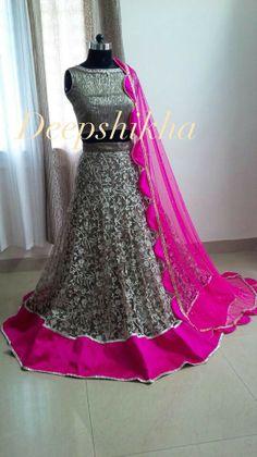 Wow grey and pink combination lehenga - very elegant  #weddinglehenga  #bridallehengadesigns #bridallehengasonline