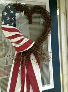 Memorial Day thru July 4th this simple wreath is appropriate