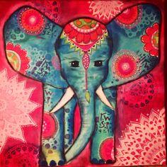 Elephant painting acryl