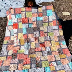 modern layer cake quilt the scattered windows