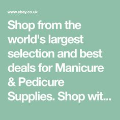 Shop from the world's largest selection and best deals for Manicure & Pedicure Supplies. Shop with confidence on eBay!