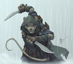 "Makes sense that ""a little weasel-y character"" would be a rogue of some kind. - Knifer by Max-Dunbar"