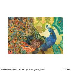 Blue Peacock Bird Teal Paisley Morrocan Background Canvas Print   http://www.zazzle.com/blue_peacock_bird_teal_paisley_morrocan_background_canvas_print-192012573111354546?rf=238588924226571373