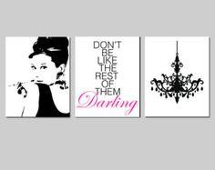 Audrey Hepburn Wall Art set of four art print audrey hepburn black art photoartlantida