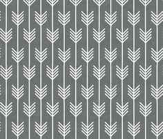Fabric for new pillows for the couch.  arrows_gray fabric by holli_zollinger on Spoonflower - custom fabric