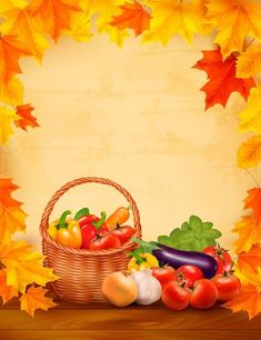 Buy Autumn Background with Fresh Vegetables by almoond on GraphicRiver. Autumn background with fresh vegetables in basket Healthy Food. Fully editable, vector objects separated and . Autumn Leaves Background, Leaf Background, Paper Background, Text Frame, Autumn Scenes, Fall Wallpaper, Borders And Frames, Autumn Activities, Writing Paper