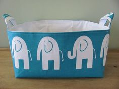 NEW Fabric Diaper Caddy  Fabric organizer by hipbabyboutique, $46.00