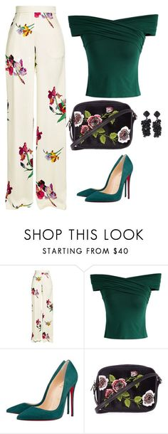 Pool Party by toots2271 ❤ liked on Polyvore featuring Etro, Chicwish, Christian Louboutin, Topshop and NOIR Sachin   Babi