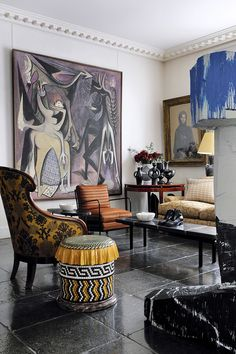 Discover the most exciting design projects and ideas from top interior designer Jacques Grange! Interior Design Inspiration, Decor Interior Design, Interior Decorating, Top Interior Designers, Eclectic Decor, Decoration, Interior And Exterior, Beautiful Homes, Design Art