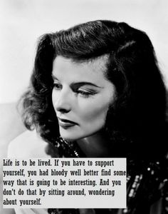 You go, katharine hepburn!