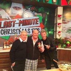 Jon Bon Jovi and his father on the talk show The Chew 12/19/2014