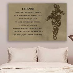 Soldier Poster - I Choose Framed Canvas Ink Painting, Spray Painting, Soldier Quotes, Self Pity, Painting People, Choose Me, Kid Names, Family Quotes, Canvas Frame