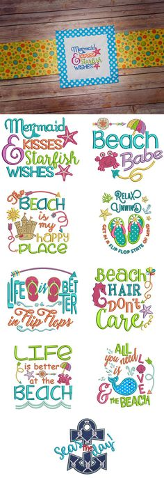 Seaside Sayings Set 1 now available for instant download at designsbyjuju.com