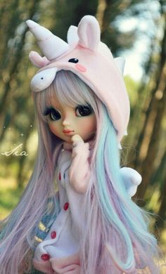 15 Trendy Ideas For Doll Anime Pullip Anime Dolls, Ooak Dolls, Blythe Dolls, Girl Dolls, Bratz Doll, Beautiful Barbie Dolls, Pretty Dolls, Unicorn Doll, Unicorn Pics