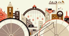 Free Rider by Petros Afshar, via Behance #illustration