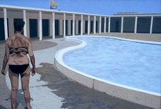Dutch Artist Fred van der Wal and His Beach Paintings – if it's hip, it's here 21st October, The 5th Of November, March 2014, Wale, Dutch Artists, Contemporary Artists, Swimming Pools, Beach Paintings, Fine Art