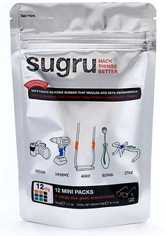 sugru is a new air-curing rubber that can be formed by hand. It bonds to most materials and turns into a strong, flexible silicone rubber overnight.  This stuff really does work - you can fix or even create lots of stuff!  Awarded TIME Magazine Top 50 Inventions of 2010.  Read the website for ideas :)  http://sugru.com/   $18 for a pack that will last you quite awhile!