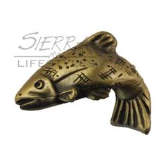 Sierra Lifestyles Fish Left Facing Knob Sierra Lifestyles Unique Cabinet  Hardware That Enhances Your Log Home