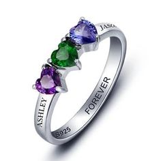 Personalized gifts for women, personalized name ring , personalize birthstone ring, silver ring for women, personalized gifts for her, personalized gift ideas Free delivery worldwide 🌐 #personalizedgifts Custom Promise Rings, Engraved Promise Rings, Cubic Zirconia Engagement Rings, Silver Engagement Rings, Wedding Rings, Ring Engagement, Mother Rings, Personalized Rings, Personalised Jewellery