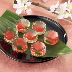 Japanese Sweets Wagashi | Wagashi♡∽Japanese sweets / Japanese Sweets, cherry blossoms jelly Japanese Sweets, Japanese Wagashi, Japanese Food Art, Bento, Cute Food, Yummy Food, Snacks, Mochi, Food Porn