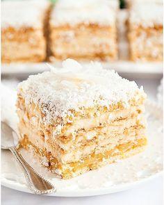 Rafaello na krakersach - I Love Bake Polish Recipes, Calzone, Vanilla Cake, Oreo, Food And Drink, Cooking Recipes, Favorite Recipes, Sweets, Baking