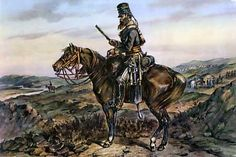 A trooper of the 13the Light Dragoons on picquet duty