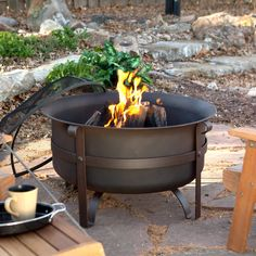 Red Ember Brockton Steel Cauldron Fire Pit with FREE Cover   from hayneedle.com