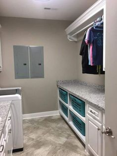 "26 Laundry Room Design Ideas That Will Make You Want To Do Laundry - GODIYGO.COM Visit our website for additional details on ""laundry room storage diy budget"". Mudroom Laundry Room, Laundry Room Remodel, Laundry Room Organization, Laundry Room Design, Laundry Room Folding Table, Laundry Folding Station, Laundry Basket Storage, Laundry Room Ideas Garage, Diy Projects Laundry Room"