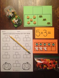 Fall addition and subtraction activities and FREE printables!