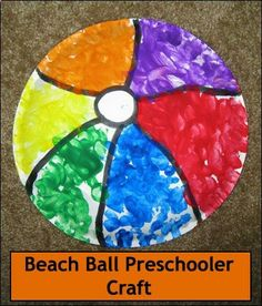 1904178904681037959951 Beach ball craft   fingertips and paint