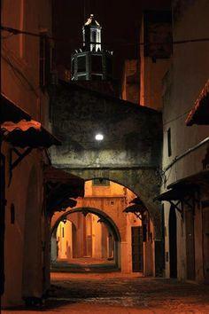 Old Medina streets of Tetouan, Morocco.