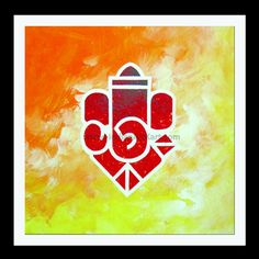 Ganesha Paintings Leaf Paintings, Indian Paintings, Rangoli Ideas, Rangoli Designs, Poster Rangoli, Ganapati Decoration, Lord Ganesha Paintings, Goddess Art, Painted Leaves