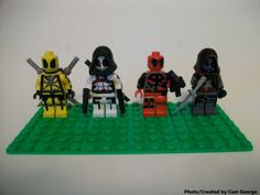 "Custom ""Deadpool""  LEGO mini figures made by Cam George"