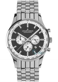 1c743ca59da JACQUES LEMANS London Stainless Steel Chronograph 1-1735F - http   rologia.
