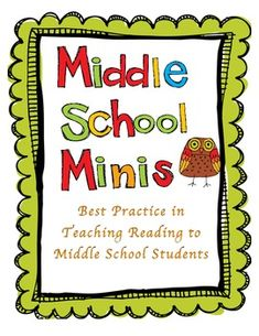 Reading Minilessons to use for Middle School Students in the Reading Workshop - Kasey Kiehl 7th Grade Reading, Middle School Reading, Middle School English, Middle School Classroom, Guided Reading, Teaching Reading, Reading Groups, Mini Reading, Reading Lessons