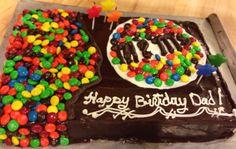 M & m birthday cake