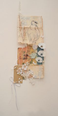 Delicate collages from Philippa Leith Perfect inspiration for scan n cut Collages, Collage Kunst, Collage Artwork, Creation Art, Kunst Online, Assemblage Art, Mixed Media Collage, Mixed Media Artists, Fabric Art