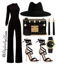 """""""BLACK WIDOW🖤"""" by stylesbyglam on Polyvore featuring Vetements, Gianvito Rossi, Gucci, Rolex and Yves Saint Laurent"""