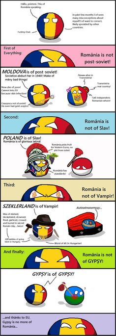 We no gipși, we no slavici and we no vampiri :) Best Funny Pictures, Funny Images, Stupid Funny Memes, Hilarious, Poland Country, Cool Animations, Jokes, Hetalia Romania, Comics