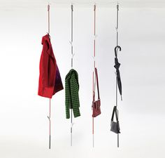 Signpost Clothes Hooks - The Sign Coat Rack Points You in the Direction of a Tidy Front Foyer Design Shop, House Design, Hanging Coat Rack, Hanging Storage, Closet Layout, Clothes Hooks, Clothes Stand, How To Iron Clothes, Ligne Roset