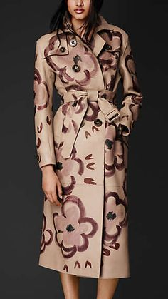 Deerskin painted trenchcoat by Burberry Burberry Trench Coat, Coats For Women, Dress To Impress, Mantel, Winter Fashion, Fashion Dresses, Women Wear, Stylish, My Style