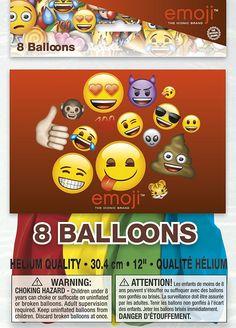"Emoji Party Supplies & Decorations - 12"" Latex Emoji Balloons, 8ct: Amazon.ca: Toys & Games"