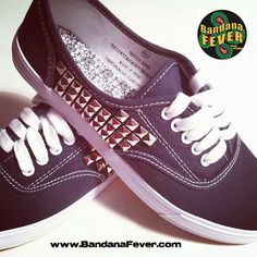 Bandana Fever Custom Studded Vans