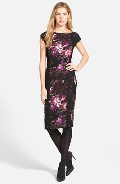 Maggy London Lace & Crepe Sheath Dress (Regular & Petite) (Nordstrom Exclusive) | Nordstrom