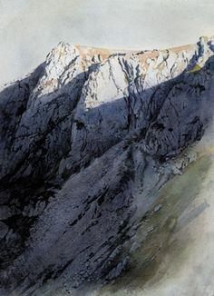 Craig yr Ogof, Cwm Silyn, an original watercolour painting by Rob Piercy