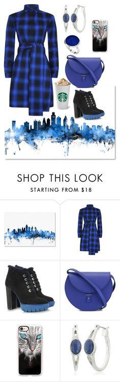 """Maje Belted Shirt Dress"" by naviaux ❤ liked on Polyvore featuring Trademark Fine Art, Maje, Kenzo, PB 0110, Casetify, Vintage America and StyleRocks"