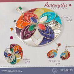 Inkaiko's - Joyas: FLOR DE AMARYLLIS, Colección llena de Color. Compr...
