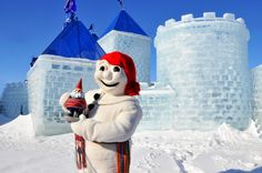 Quebec City Winter Carnival - Bonhomme Carnaval and Travelocity's Roaming Gnome on Seattle's Travels Blog