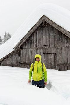 --> die SCHNEEWANDERUNG ❄️️ Winter Weitwandern Seefeld Bomber Jacket, Hats, Jackets, Alps, Snow, Hiking, Trench, Winter Landscape, Down Jackets