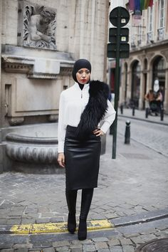 Get monochromatic. | 23 Seriously Beautiful Hijab Styles To Try